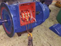 Motors Rewinding Testing end cover repairs and dynamic balancing rotors and fans - Before